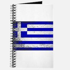 Flag of Greece Grunge Journal
