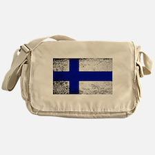 Flag of Finland Grunge Messenger Bag