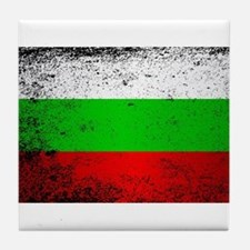 Flag of Bulgaria Grunge Tile Coaster