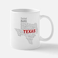 Texas State Word Cloud Mugs