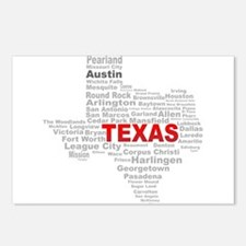 Texas State Word Cloud Postcards (Package of 8)
