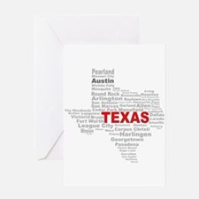 Texas State Word Cloud Greeting Cards