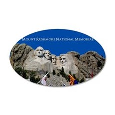 Customizable Mt Rushmore Avenue of Flags Wall Decal