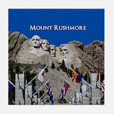 Customizable Mt Rushmore Avenue of Flags Tile Coas