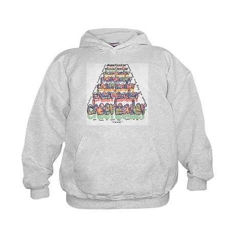 Cheerleader Pyramid Kids Hoodie