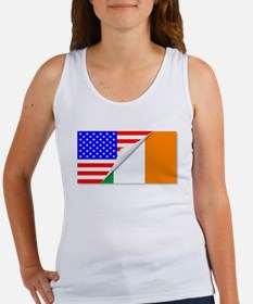 United States and Eire Flags Combined Tank Top