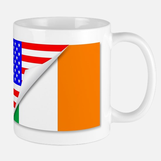 United States and Eire Flags Combined Mugs