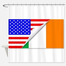United States and Eire Flags Combin Shower Curtain