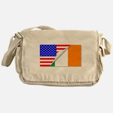 United States and Eire Flags Combine Messenger Bag