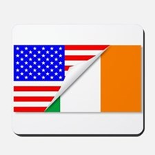 United States and Eire Flags Combined Mousepad