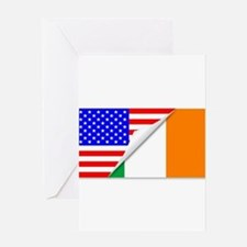 United States and Eire Flags Combin Greeting Cards