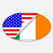 United States and Eire Flags Combined Decal