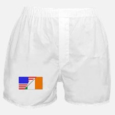 United States and Eire Flags Combined Boxer Shorts