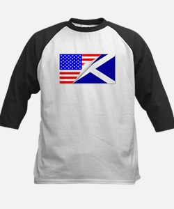 United States and Scotland Flags C Baseball Jersey
