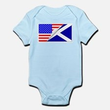 United States and Scotland Flags Combine Body Suit