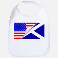 United States and Scotland Flags Combined Bib