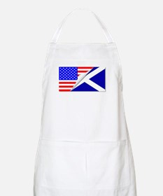 United States and Scotland Flags Combined Apron