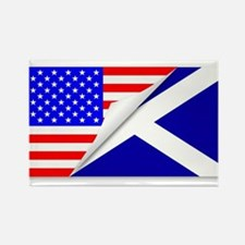 United States and Scotland Flags Combined Magnets