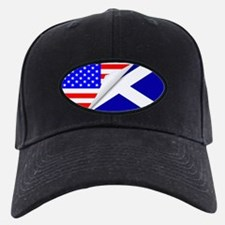 United States and Scotland Flags Combine Baseball Hat