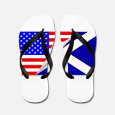United States and Scotland Flags Combin Flip Flops