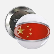 "Chinese Flag Oval Button 2.25"" Button (100 pack)"