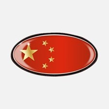 Chinese Flag Oval Button Patch
