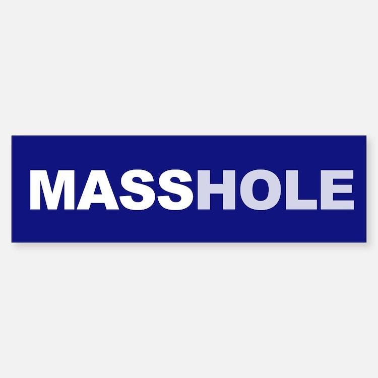 Masshole Bumper Bumper Bumper Sticker