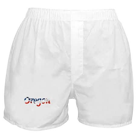 Patriotic Oregon Boxer Shorts