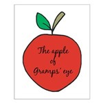 Apple of Gramps' Eye Small Poster