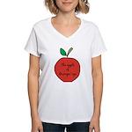 Apple of Gramps' Eye Women's V-Neck T-Shirt