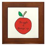 Apple of Gramps' Eye Framed Tile