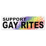 SUPPORT GAY RITES Bumper Sticker