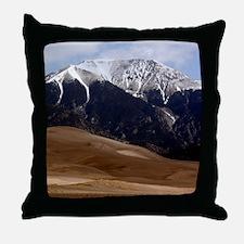 Sand Dunes Colorado Throw Pillow