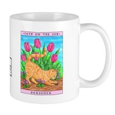 Unique Cat in a garden Mug