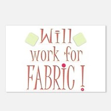 Will Work For Fabric Postcards (Package of 8)