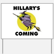 HILLARY WITCH Yard Sign