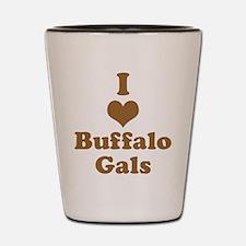 I Heart (Love) Buffalo Gals Shot Glass