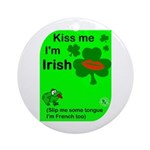 Irish/French Heritage Ornament (Round)