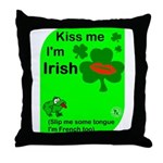 Irish/French Heritage Throw Pillow