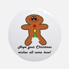 Christmas Wishes Ornament (Round)