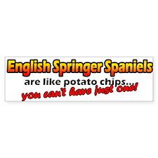 Potato Chips English Springers Bumper Bumper Sticker