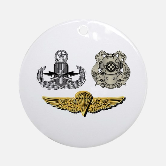 Navy - EOD Master, Diver 1st Class, Round Ornament