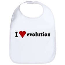 I Love Evolution Bib