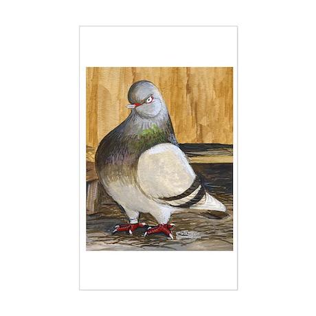 Barred Flight Pigeon Rectangle Sticker