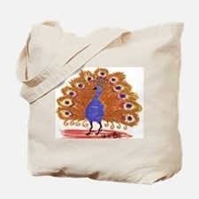 Rust Colored Peacock by Wendy C. Allen Tote Bag