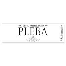 Scary PLEBA Girl Bumper Bumper Sticker