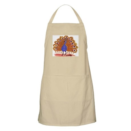 Rust Colored Peacock by Wendy C. Allen BBQ Apron