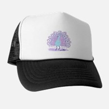 Purple Peacock by Wendy C. Allen Trucker Hat