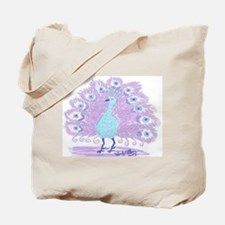Purple Peacock by Wendy C. Allen Tote Bag