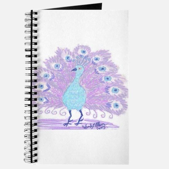 Purple Peacock by Wendy C. Allen Journal